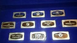 VERY RARE FRANKLIN MINT GREAT MINES. 999 PROOF SILVER BARS WithORIGINAL BOX