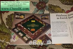VG Replacement Franklin Mint Monopoly Board Only + 1 Gold Hotel, 1 Silver House
