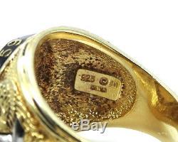 VIETNAM WAR MEMORIAL VETERAN FM FRANKLIN MINT Sterling Silver VICTORY Ring 14