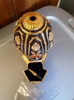 Very rare gold and silver Franklin mint fabrege egg with chess set inside