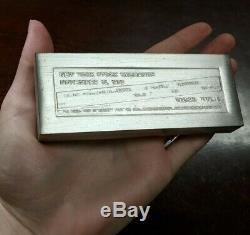 Vintage Franklin Mint 1972 Dow Jones NYSE 1000 Gram Sterling Silver Bar
