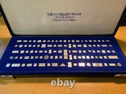Vintage Franklin Mint Silver 100 Greatest Stamps of the World Complete Set