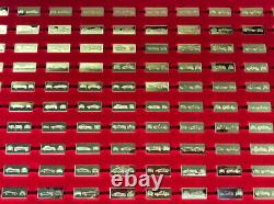 Vintage Worlds Great Performance Cars 100 Miniatures Silver Ingots Complete