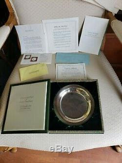 Vintage lot of 4 Franklin Mint Sterling Silver Bird Plates 197273 25.34 Troy