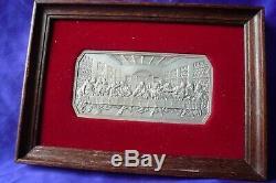 Vtg The Last Supper Fritz Weiland Franklin Mint 5.2 Troy oz 999 Silver Art Bar 5
